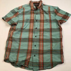 Prana Button Down Short Sleeve Organic Cotton